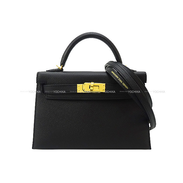 HERMES エルメス ショルダーバッグ ケリー ミニ ドゥ ケリー 20 外縫い 黒(ブラック) エプソン ゴールド金具 新品