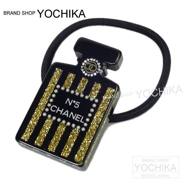 CHANEL シャネル ビッグパール ココマーク ヘアゴムバンド ブレスレット 黒Xフェイクパール A63896 新品