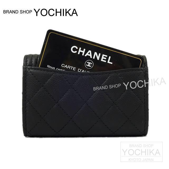 CHANEL シャネル ボーイシャネル カードホルダー付 4連キーケース 黒 キャビアスキン ゴールド金具 A84292 新品