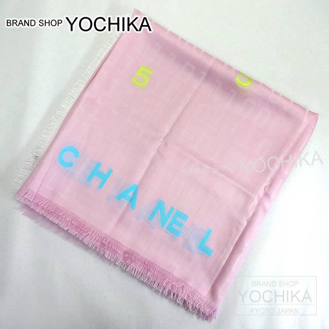 CHANEL シャネル タイポグラフィー ココ ストール ショール ベビーピンク カシミヤ47% シルク51% A74495新品