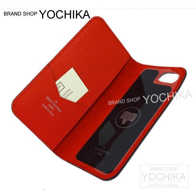"""LOUIS VUITTON ルイ・ヴィトン シュプリーム iPhone7 ケース """"フォリオ"""" 赤 M64498 新品"""