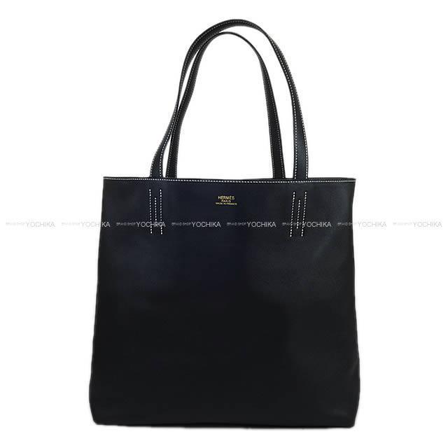 HERMES エルメス リバーシブル トートバッグ 「ドゥブル・サンス(ドゥブルセンス)」45 黒(ブラック)×グラファイト