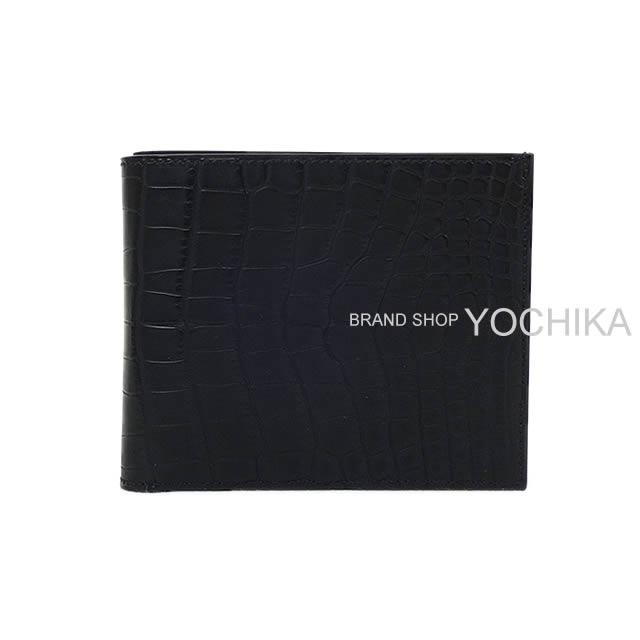 HERMES エルメス メンズ 二つ折財布 MC2 タレス 黒(ブラック) クロコダイル アリゲーター 新品