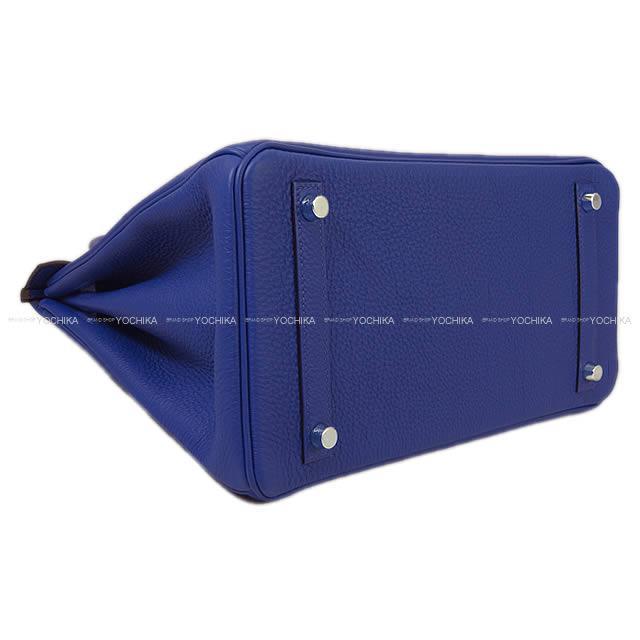 HERMES エルメス ハンドバッグ バーキン30 ブルーエレクトリック トゴ シルバー金具 新品