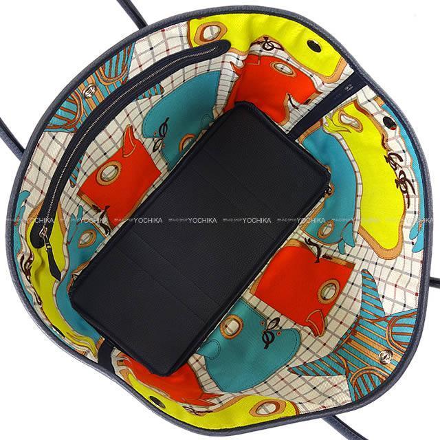 エルメス トートバッグ ガーデンパーティ 36 PM カマイユ ブルーインディゴXライム ネゴンダ 新品