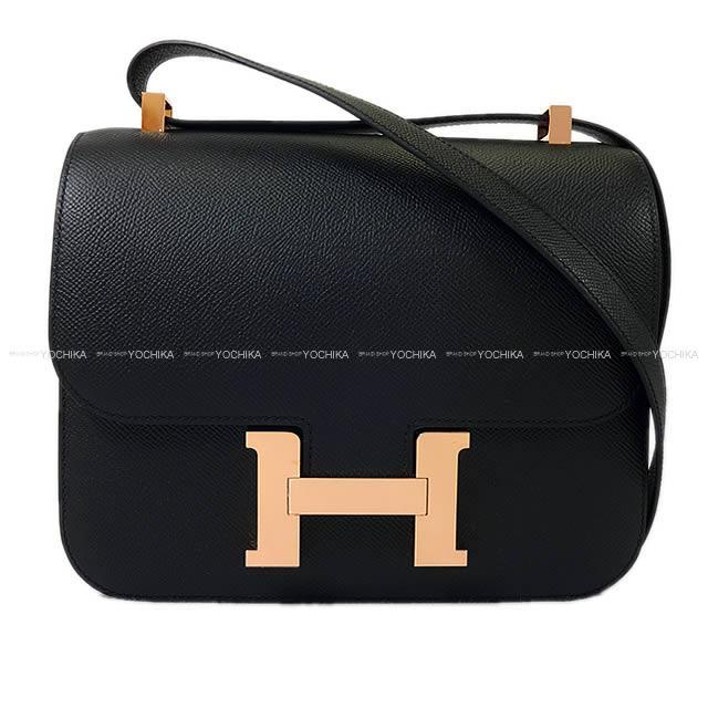 HERMES エルメス ショルダーバッグ コンスタンス3 24 MM 黒(ブラック) エプソン ローズゴールド金具 新品