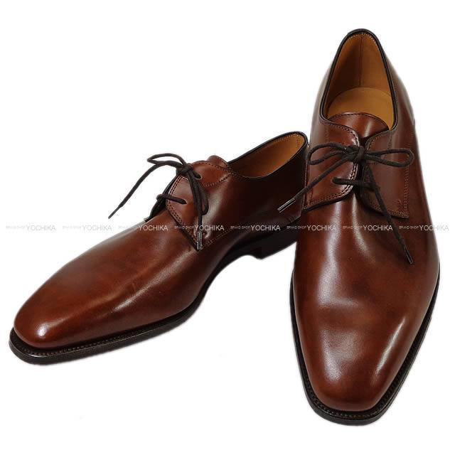 """John Lobb ジョン・ロブ Solde メンズ プレーントゥ 革靴 """"ティバートン"""" 8EE ブラウン カーフ 新品未使用"""