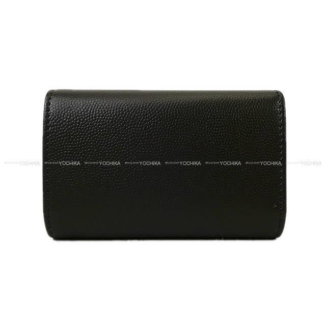 CHANEL シャネル ステッチ ココマーク 4連キーケース 黒 グレインドゴートスキン シルバー金具 A82719 新品