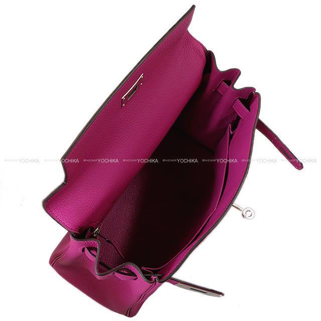 HERMES エルメス ハンドバッグ ケリー28 内縫い ローズパープル トゴ シルバー金具 新品