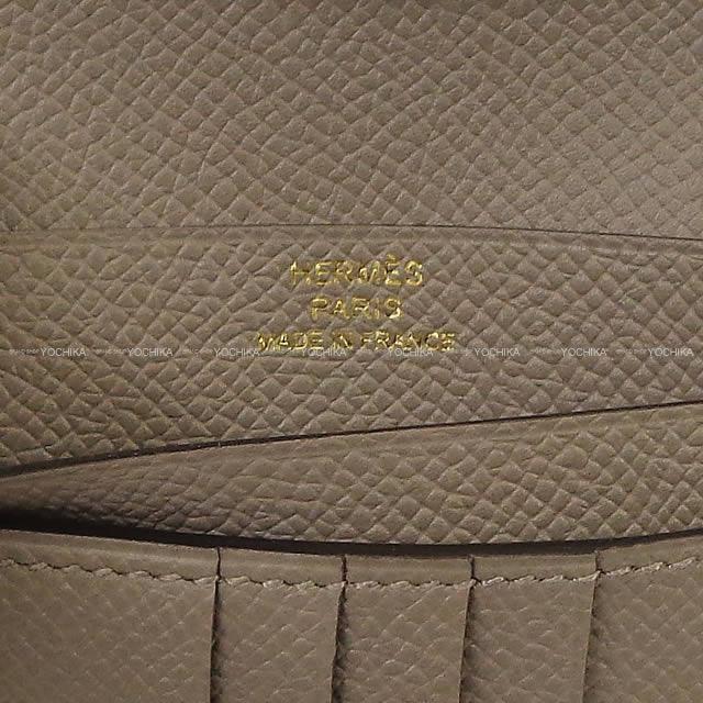 HERMES エルメス 財布 ベアンコンパクト グリアスファルト エプソン ローズゴールド金具 新品