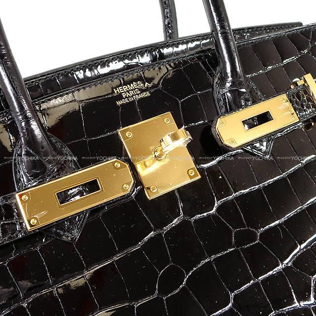 HERMES エルメス バーキン30 黒(ブラック) クロコダイル ポロサス シルバー金具 新品