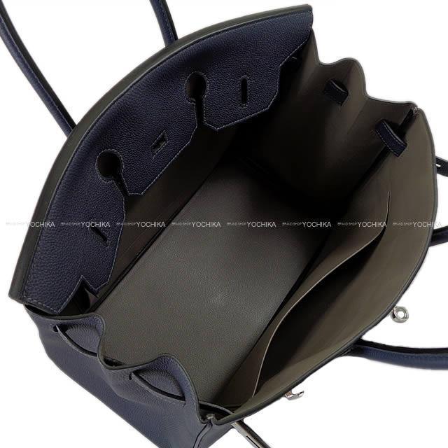HERMES エルメス ハンドバッグ バーキン35 スペシャルオーダー ブルーニュイXエタン トゴ シルバー金具 新品