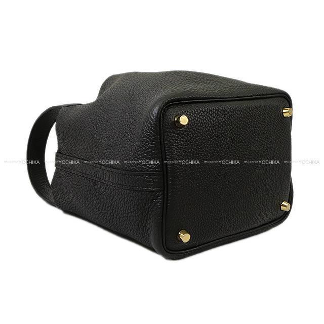 HERMES エルメス ハンドバッグ ピコタンロック 18 PM 黒(ブラック) トリヨン ゴールド金具 新品