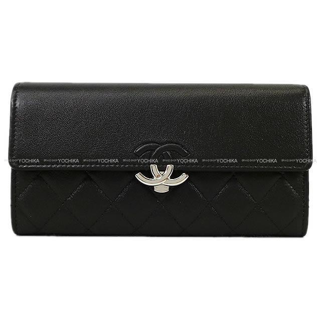 CHANEL シャネル マトラッセ ココマーク フラップ 長財布 黒(ブラック) ラムスキン A84426 新品
