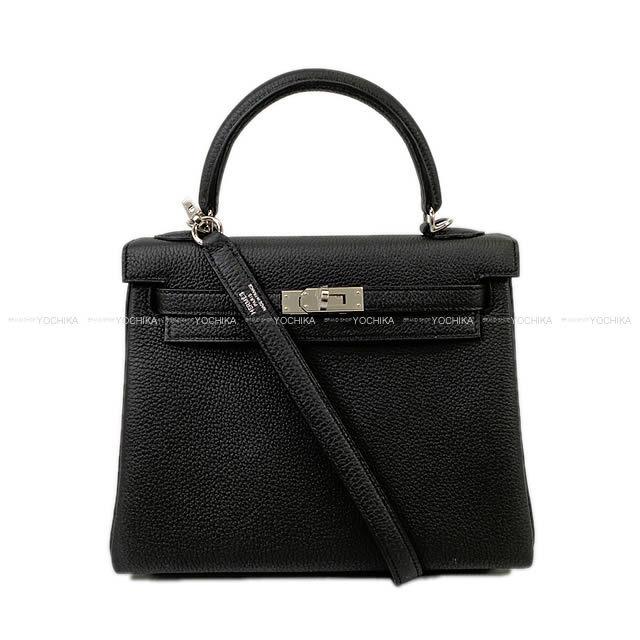 HERMES エルメス ハンドバッグ ケリー25 内縫い 黒(ブラック) トゴ シルバー金具 新品