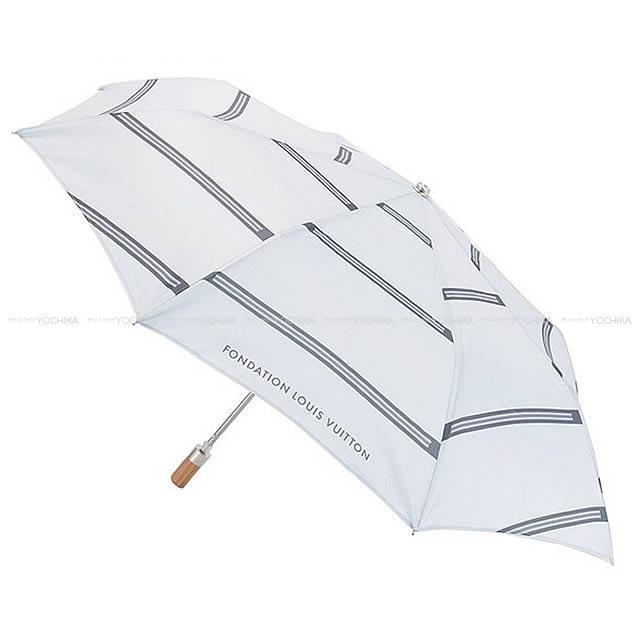LOUIS VUITTON ルイ ヴィトン フォンダシオン 限定 ワンタッチ 折り畳み傘 グレー 新品