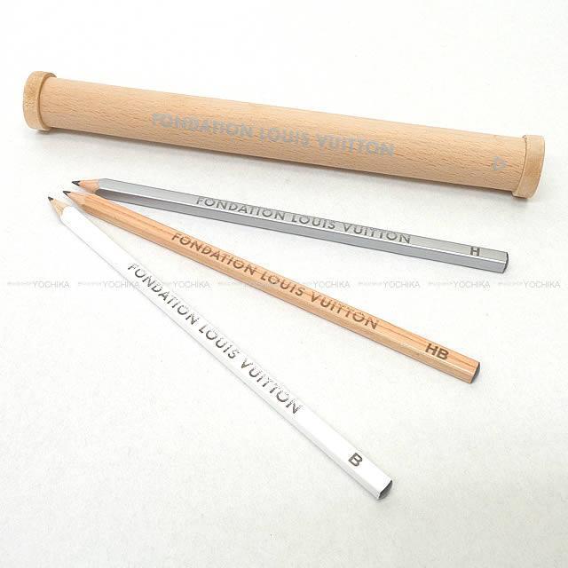 LOUIS VUITTON ルイ ヴィトン フォンダシオン 限定 木製 ペンケースセット ナチュラル 新品