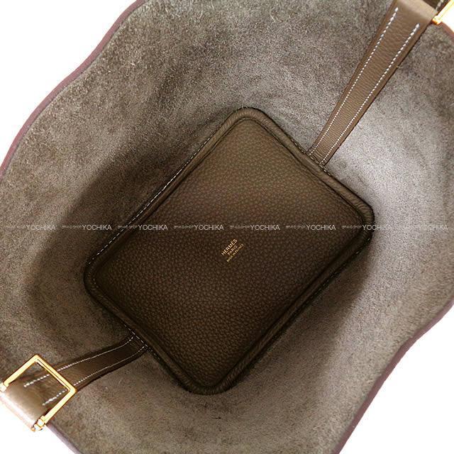 HERMES エルメス ハンドバッグ ピコタンロック 18 PM エトープ トリヨン ゴールド金具 新品
