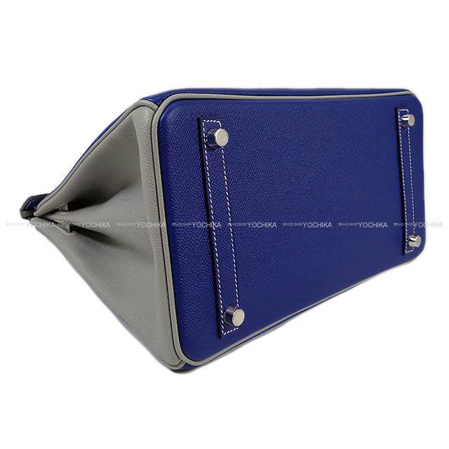 HERMES エルメス ハンドバッグ バーキン30 スペシャルオーダー ブルーエレクトリック×グリムエット エプソン 新品