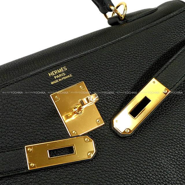 HERMES エルメス ハンドバッグ ケリー32 内縫い 黒(ブラック) トゴ ゴールド金具 新品