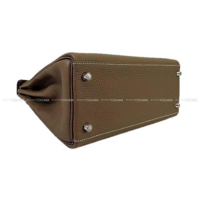 HERMES エルメス ハンドバッグ ケリー28 内縫い エトープ トリヨン シルバー金具 新品