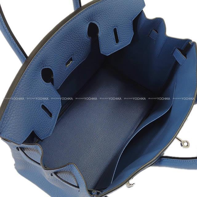 HERMES エルメス ハンドバッグ バーキン30 ブルーアガット トリヨン シルバー金具 新品未使用