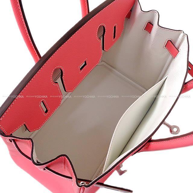 HERMES エルメス ハンドバッグ バーキン30 スペシャルオーダー ローズアザレ×白 エプソン マットシルバー金具 新品