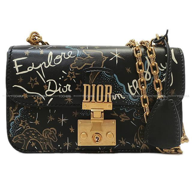 2017年 秋冬限定 Christian Dior J'adior ショルダー 黒XブルーX白 M5817CNDS 新品未使用