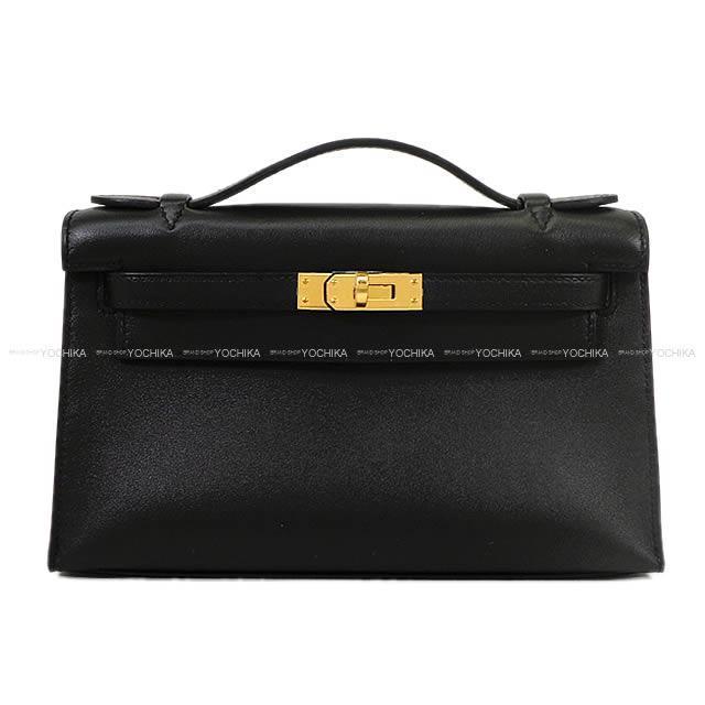 HERMES エルメス ハンドバッグ ポシェットケリー 黒(ブラック) スイフト ゴールド金具 新品