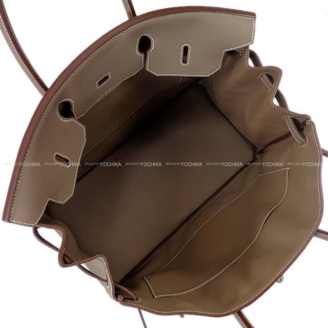 HERMES エルメス ハンドバッグ バーキン40 エトープ トゴ シルバー金具 新品未使用
