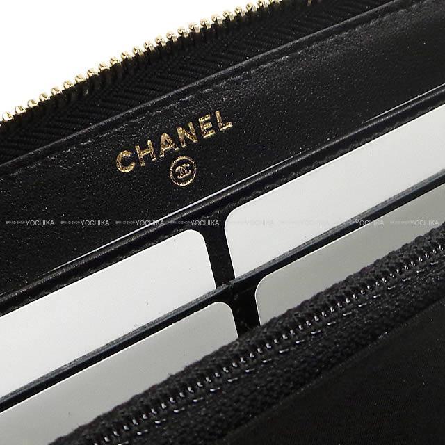 CHANEL シャネル ココマーク ラウンドファスナー長財布 黒 ゴートスキン ゴールド金具 A50071 新品