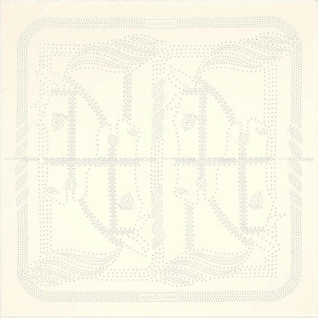 HERMES エルメス スカーフ パンチング カレ90 カドリージュ イヴォワール(アイボリー) シルク100% 新品
