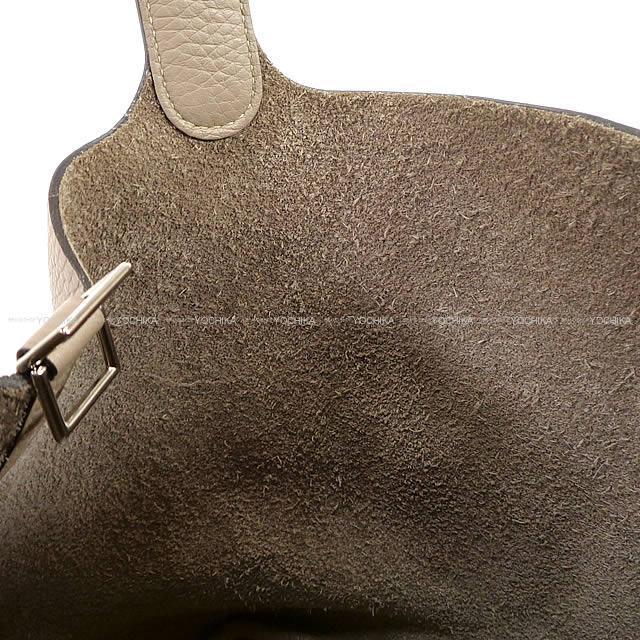 HERMES エルメス ハンドバッグ ピコタンロック 22 MM トゥルティールグレー トリヨン シルバー金具 新品未使用