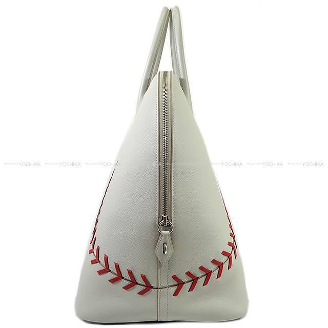 HERMES エルメス ハンドバッグ ボリード 1923 ベースボール 45 ボリード45 パールグレー×ルージュカザック