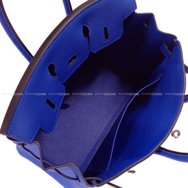 HERMES エルメス ハンドバッグ バーキン25 ブルーエレクトリック トゴ シルバー金具 新品