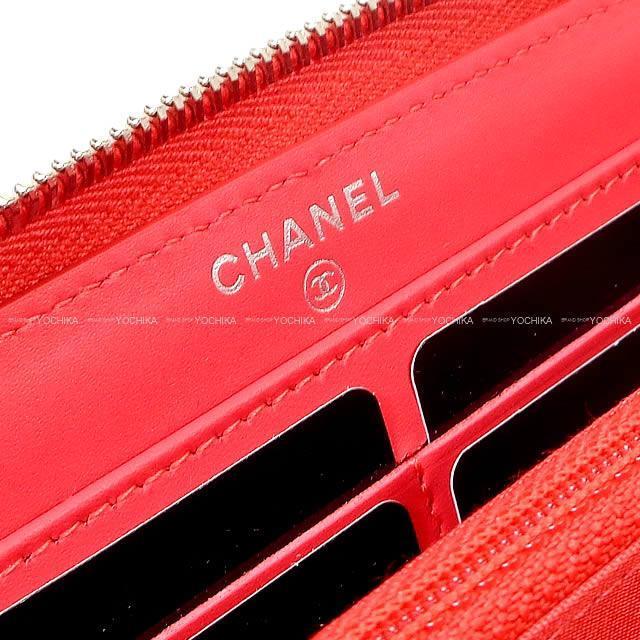 CHANEL ダイヤモンド ココマーク シェヴロン ステッチ ラウンドファスナー長財布 黒 A82361 新品