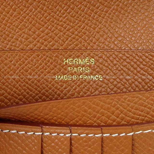HERMES エルメス 財布 ベアン コンパクト ゴールド エプソン ゴールド金具 新品