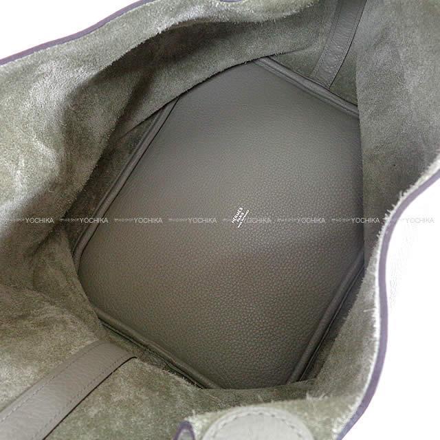 HERMES エルメス ピコタンロック 26 GM セージ(ソーゼ) トリヨン シルバー金具 新品未使用