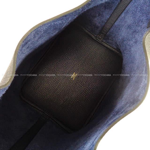 HERMES エルメス ハンドバッグ ピコタンロック 22 MM ブルーニュイ トリヨン ゴールド金具 新品