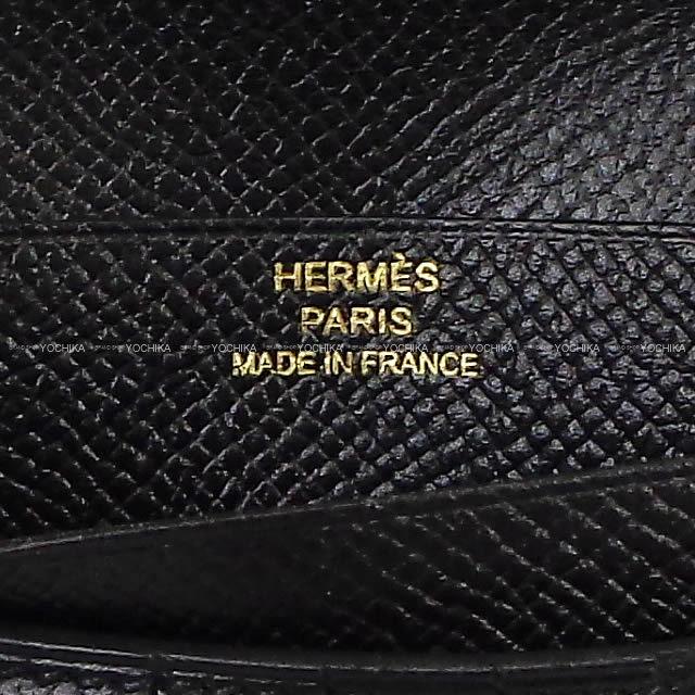 HERMES エルメス 財布 ベアン コンパクト 黒(ブラック) エプソン ゴールド金具 新品