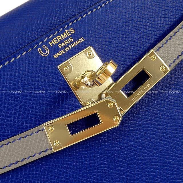 HERMES エルメス ハンドバッグ ケリー25 外縫い スペシャルオーダー ブルーエレクトリックXブルーサフィール