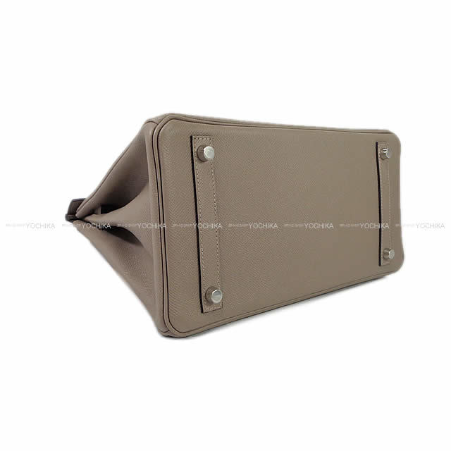 HERMES エルメス ハンドバッグ バーキン30 グリアスファルト エプソン シルバー金具 新品