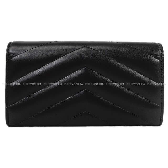 CHANEL シャネル シェヴロンステッチ ココボタン ヴィンテージ フラップ 長財布 黒(ブラック) ラムスキン A70321 新品