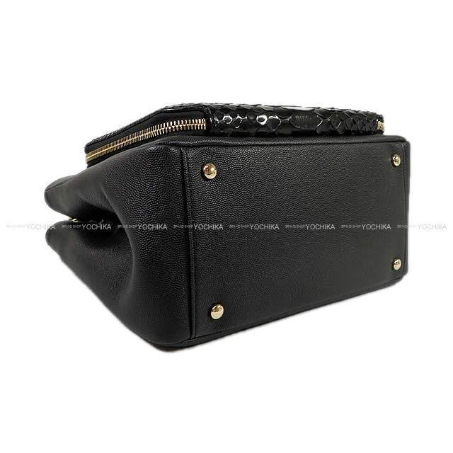 CHANEL シャネル ココマーク 2way スモール ショッピングバッグ 黒(ブラック) パイソン