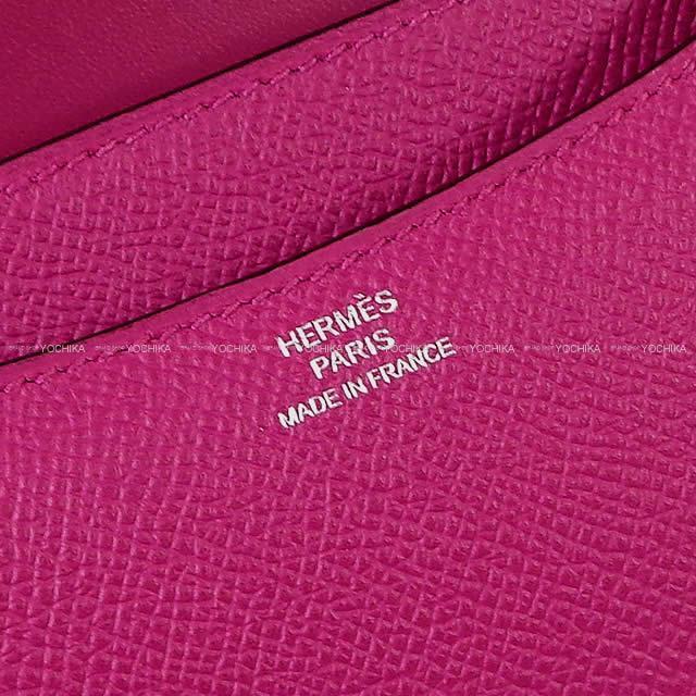 HERMES エルメス ショルダーバッグ コンスタンス3 ミニ 18 ローズパープル エプソン シルバー金具 新品