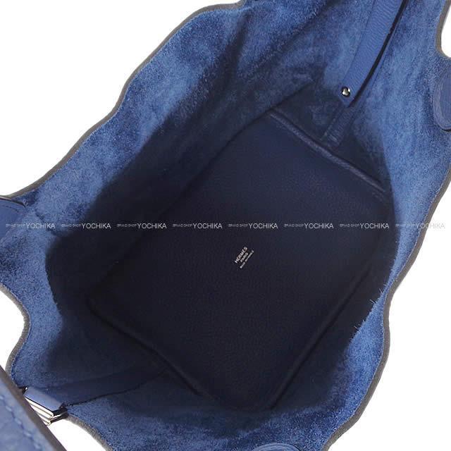 HERMES エルメス ハンドバッグ ピコタンロック 22 MM ブルーブライトン トリヨン ゴールド金具 新品