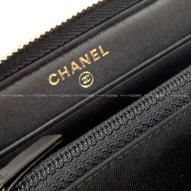 CHANEL シャネル 2.55 マトラッセ ラッキーカジノチャーム ラウンド財布 黒 カーフスキン A80554 新品未使用