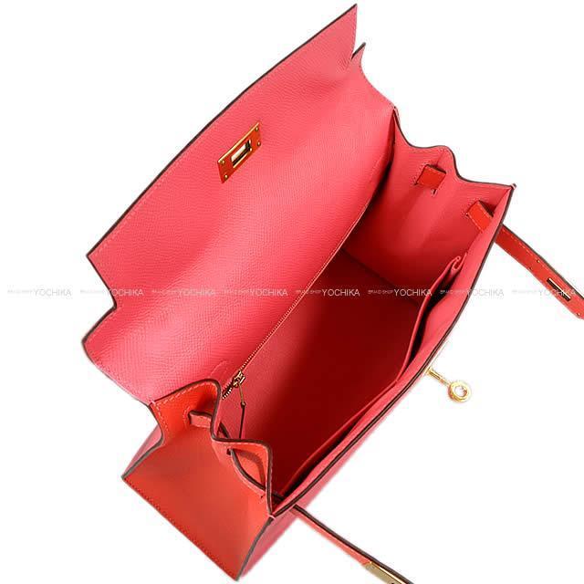 HERMES エルメス ハンドバッグ ケリー28 外縫い スペシャルオーダー ローズアザレ/ローズジャイプール エプソン