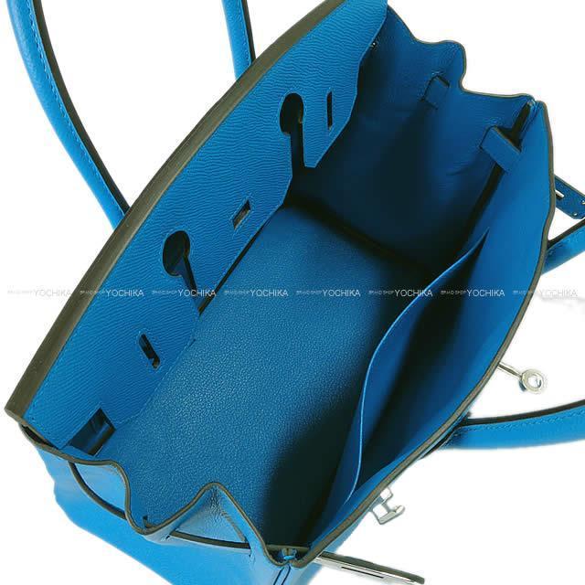 HERMES エルメス ハンドバッグ バーキン30 ブルーザンジバル(ザンジバールブルー) エプソン シルバー金具 新品