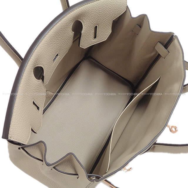 HERMES エルメス ハンドバッグ バーキン30 トゥルティールグレー トゴ ローズゴールド金具 新品